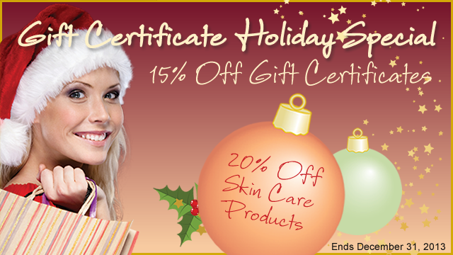 SAVE Order Holiday Gift Certificates
